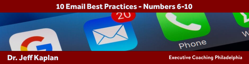 10 Email Best Practices – Numbers 6-10